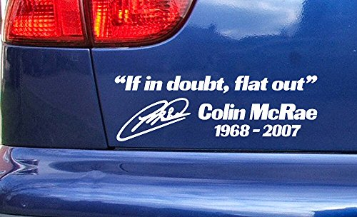 Pro Cut Vinyl Colin McRae Rip Tribute Memorial Car Window Bumper Sticker Decal Ref:1 Black 200mm x 60mm