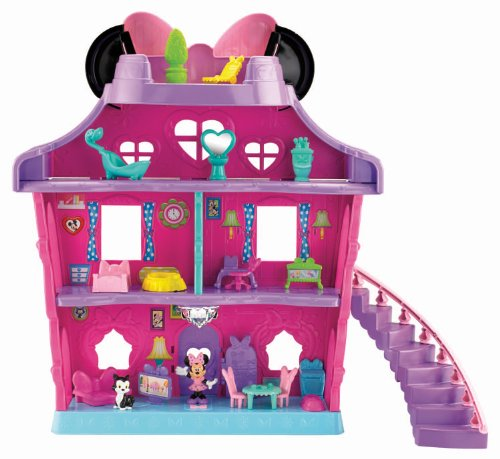 Fisher Price - Filles - Set de jeu maison de poupée & figurine nœud magique Disney Minnie Mouse