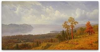 View on the Hudson by Albert Bierstadt, 24x47-Inch Canvas Wall Art