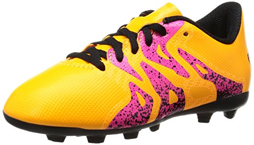 adidas X 15.4 FxG, Unisex-Kinder Fußballschuhe, Orange (Solar Gold/Core Black/Shock Pink), 36 2/3 EU (4 Kinder UK)