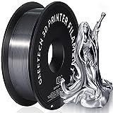 GEEETECH PLA Filament 1.75mm Silk Silber, 3d Drucker printer Filament PLA 1KG Spool