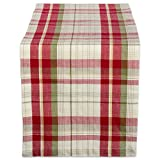 """Orchard Plaid 100% Cotton Table Runner (14x72"""") bed table Oct, 2020"""