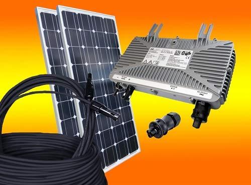 bau-tech Solarenergie 260Watt Photovoltaikanlage/Solaranlage für Eigenverbrauch Plug & Play Komplettset ohne Montagematerial GmbH