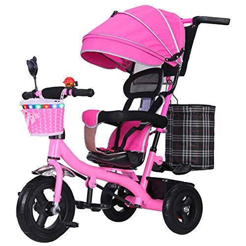 YumEIGE driewieler voor kinderen, precisie, staal 1-6 jaar, verjaardagscadeau, kinderwagen, trike, gewicht 80 kg verkrijgbaar Roze