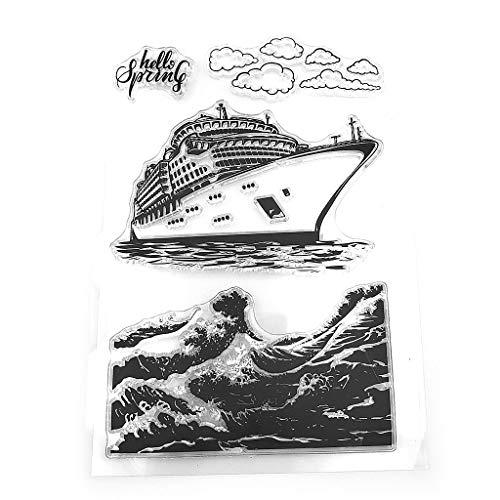 Lunji Barco De Crucero Sello De Silicona Sello DIY Scrapbooking Relieve álbum De Fotos Decoración Arte