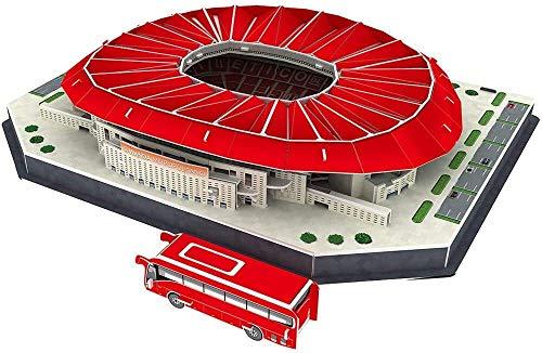 KYL Copa del Mundo LIMEIE Puzzle Game Estadio Modelo 3D Puzzle, Wanda-Metropolitano, Puzzle DIY Kit Modelo, fanático del fútbol de Recuerdos, Decoraciones, Regalos, Juguetes educativos for niños