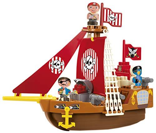 Ecoiffier Abrick 30230 Barco Pirata con Bloques de construcción, Color