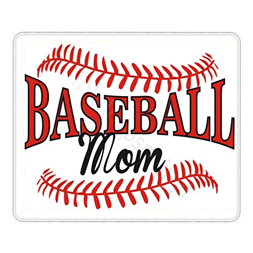 Baseball Mom Mouse Pad Non-Slip Rubber Base Gaming MousePads for Computers Laptop Office, 9.8' x11. Inch
