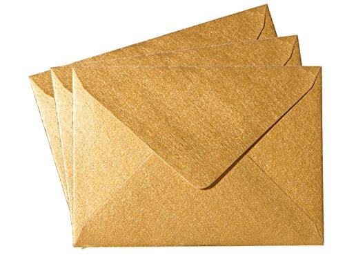 Pack 25 Umschläge Mini (52 x 71 mm) feuchtklebend 120 g/qm 88 Gold