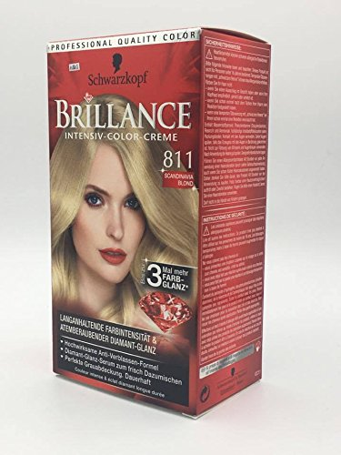 Schwarzkopf BRILLANCE Intensiv-Color-Creme 811 Scandinavia Blond