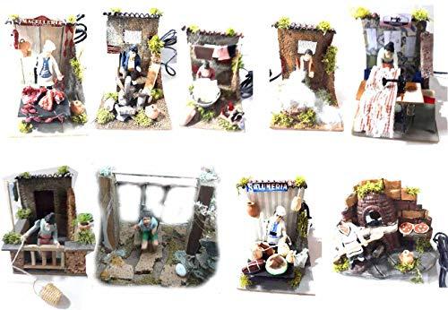 genérico ricevi 1trabajos para pastores Altos 10cm Terracota rebaja cesta filanda O modista O carnicero O Horno U Otros en movimiento Eléctrico 220V para belén artesanales Gia 1llavero