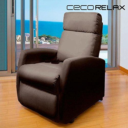 Sillón relax de masaje Compact. Función calor. 5 programas. 3 intensidades. 8 motores. Mando de control. Polipiel de alta calidad. Bolsillo portaobjetos