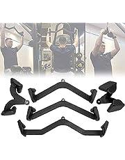 VULID 5 Stks Kabelmachine Pull Down Bevestiging Voor Gym, V-vorm Antislip Kabel Fitnessapparatuur, Bodybuilding Matching Bar Handvat, Back Triceps Handgrepen