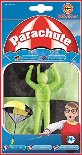 Paul Günther 1171 - Parachute, Fallschirm zum Werfen, Durchmesser ca. 46 cm, farblich sortiert, ideal als Geschenk für riesen Spielspaß