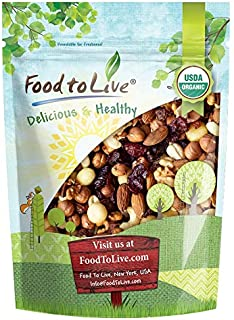 The Magnificent Seven Mix, 1 Pound — Raw Organic Nuts and Berries including Almonds, Cashews, Hazelnuts, Macadamias, Walnu...