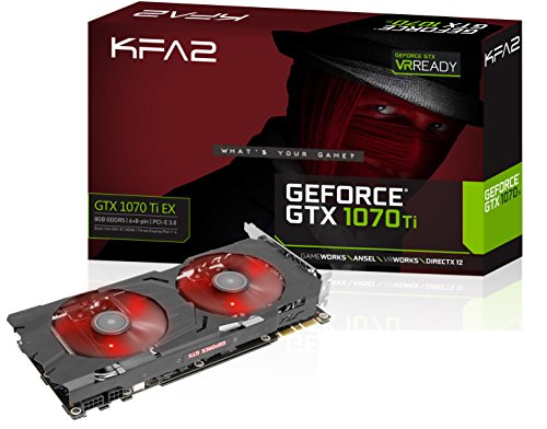 KFA2 GeForce GTX 1070 Ti EX - Tarjeta gráfica para Videojuegos PCI-E (8 GB, GDDR5), Color Negro