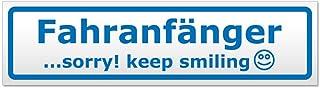 Kiwistar Fahranfänger   Sorry! Keep Smiling Magnetschild Schild magnetisch