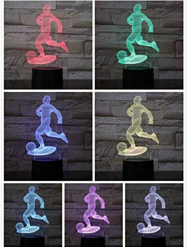 3D Night Light LED Night Light Action Decoratieve lamp 7 kleuren veranderende 3D lamp slaapkamer Home Decor