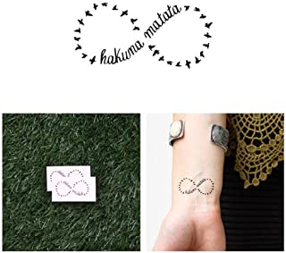 Tattify Hakuna Matata Temporary Tattoo - Circle of Life (Set of 2) - Other Styles Available - Fashionable Temporary Tattoos - Long Lasting and Waterproof