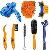 WOEJGO 8 Stück Fahrrad Reinigungsset, Bike Reinigungsbürsten Tool, fahrradpflege und reinigung set...