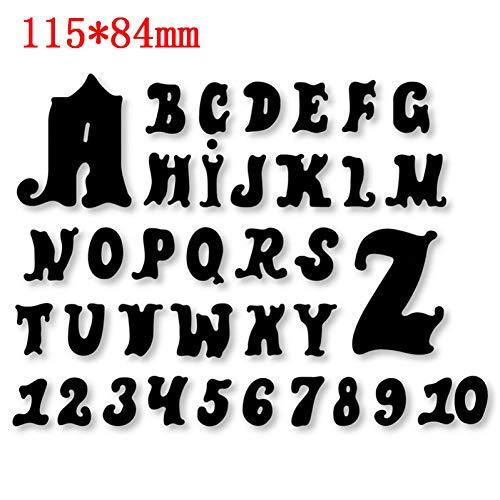 PIXIEY DIY ponsvorm letters cijfers serie metaal stansvormen voor doe-het-zelf scrapbooking kaart maken decoratief handwerk Levert reliëf gestanst