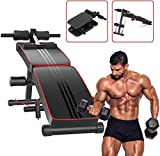 Fnova Sit Up Bench - Adjustable & Foldable Incline/Decline Utility Exercise Weight Bench