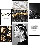 Papierschmiede® Mood-Poster Set Coco Black & Gold   Bilder