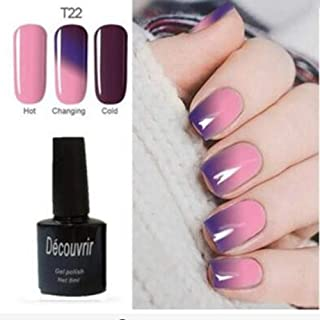 CoCocina Decouvrir Temperature Change Nail Uv Gel Color Changing Polish Gradient Thermal Chameleon Cute - 22