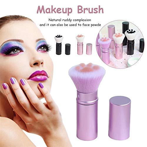 Xiangyin Pinceau De Maquillage, Pinceau Cosmétique De Poudre pour Le Visage De Stylo De Maquillage Télescopique Japonais pour Le Fard À Joues Professionnel, Pinceau De Maquillage