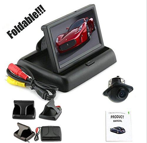 BW® Recul 10,9 cm pliable couleur Recul Kit Moniteur + Caméra arrière Large Ange secours voiture