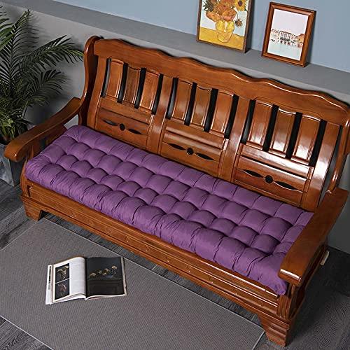 Yanman Funda de asiento de sofá para banco de jardín, cojines de repuesto para tumbonas gruesas, cojines de recambio para tumbonas de muebles, tumbonas, colchonetas, cómoda, suave, 48 x 160 cm