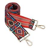 Wide Shoulder Strap Adjustable Replacement Belt Crossbody Canvas Bag Handbag (wide:1.97'(5CM) Rhombus)