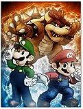 Póster de Super Mario Bros con impresión sobre lienzo, diseño de Mario Bros