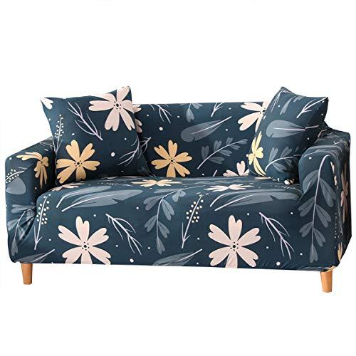 Bedruckter Sofabezug, Loveseat Couch Stretch Stoff Sofa Schonbezüge Möbelschutz mit elastischer Unterseite & Anti-Rutsch-Schaumstoff (#6, 2-Sitzer)