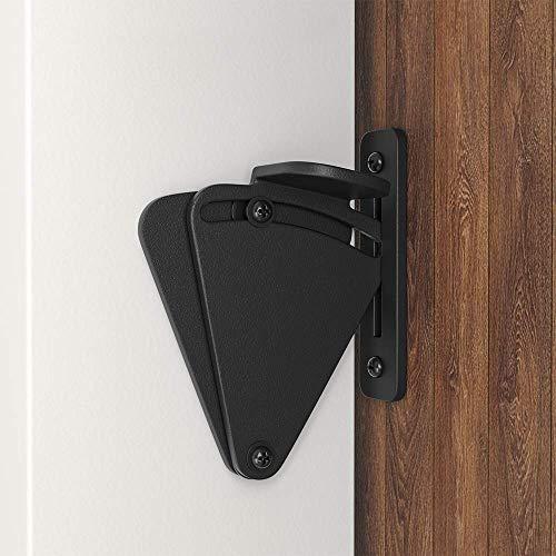 Product Image 2: WINSOON Barn Door Lock Hardware Black Steel Sliding Privacy Latch for Closet Shed Pocket Doors Wood Gates – Black