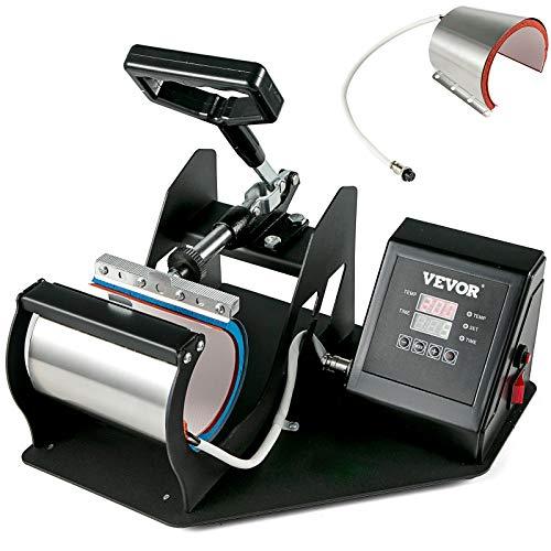 VEVOR 2in1 Tassenpresse 350W Heißpresse Maschine Heat Press Machine hitzepressemaschine mit Elektronische Zeitregelung und Temperaturüberwachung