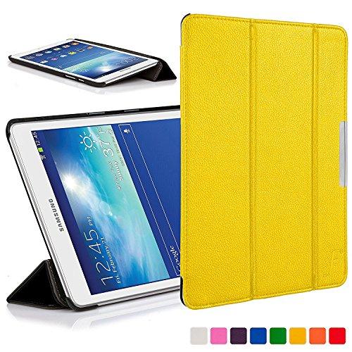 Forefront Cases Cover per Samsung Galaxy Tab 3 7.0 Lite Cover Custodia Caso Pieghevole - Ultra Sottile Leggero con Protezione Dispositivo Completa (GIALLO)
