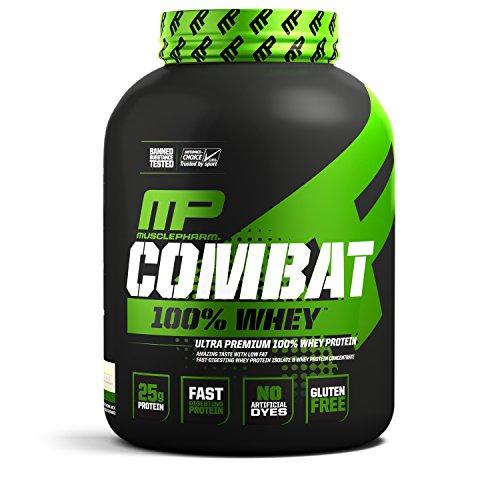 MusclePharm 100% Whey Protein, Muscle-Building Whey Protein Powder, Cookies 'N' Cream, 5 Pounds, 70 Servings
