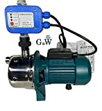 Shallow Well Jet and Booster Pump with Smart Controller Home Pressure...
