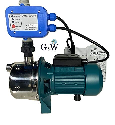 Shallow Well Jet and Booster Pump with...