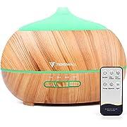 Aroma Diffuser, Luftbefeuchter Ultraschall Wasserlose automatische Abschaltung,Diffuser,500 ml und 7-Farben-LED-Leuchten - BPA frei