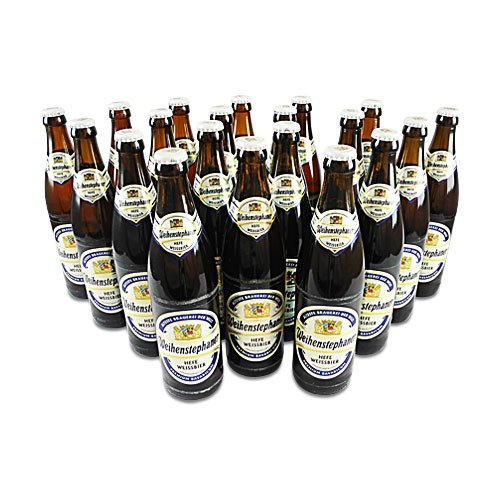 Weihenstephaner Hefeweissbier Hell (20 Flaschen à 0,5 l / 5,4 % vol.) inc. 1.60€ MEHRWEG Pfand
