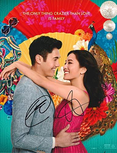 Photo Crazy Rich Asians - Henry Golding & Constance Wu Autograph Signed 8 x 10