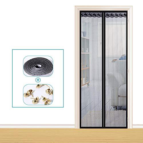 Cortina Mosquitera Magnética Para Puertas 80x200cm, Queta Cortina Protección contra Insectos Mascotas para Puerta Balcón Sala de Estar Puerta Patio sin Taladrar Cierre Automático (No Pueden Cortar)