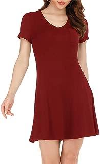Best burgundy loose dress Reviews