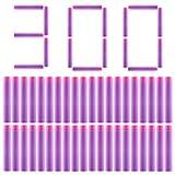 300Pcs Recharge Fléchettes - Foxom 7.3*1.3cm Standard Balle en Mosse Darts pour Nerf Rebelle - Jeux de Plein Air (Violet)