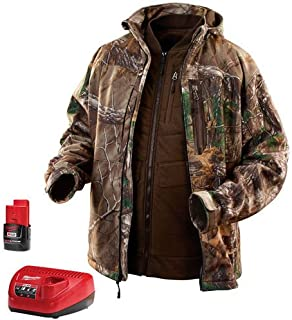 MILWAUKEE ELECTRIC TOOL 2387-L M12 Heated Real tree Xtra 3-In-1 Jacket Kit, Large