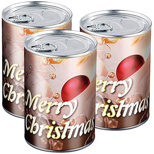 infactory Konservendosen: 3er-Set Geschenkdosen Merry Christmas- originelle Präsent-Verpackung (Geschenk-Schachtel)