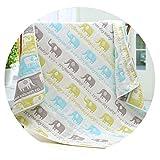 新しい80 80A綿6層ガーゼベビーバスタオル新生児きのこは毛布で覆われています,カラー画像,80*80