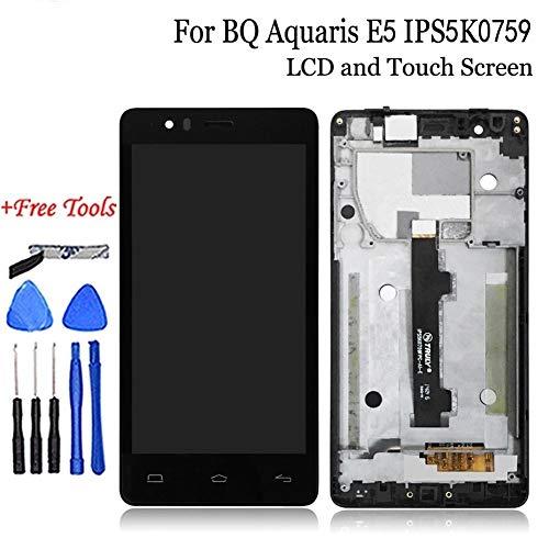 ZUAN LCD + Tactil de la Pantalla táctil Compatible con BQ Aquaris E5 HD IPS5K0759FPC-A1-E LCD con Marco